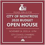 Public Invited to Attend Budget Open House