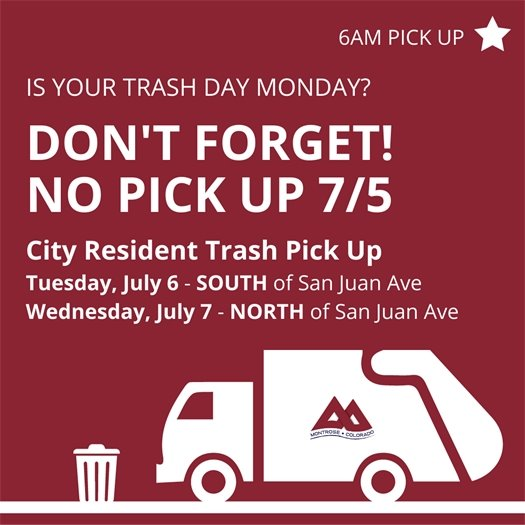 City Closed For Independence Day Weekend Holiday July 5