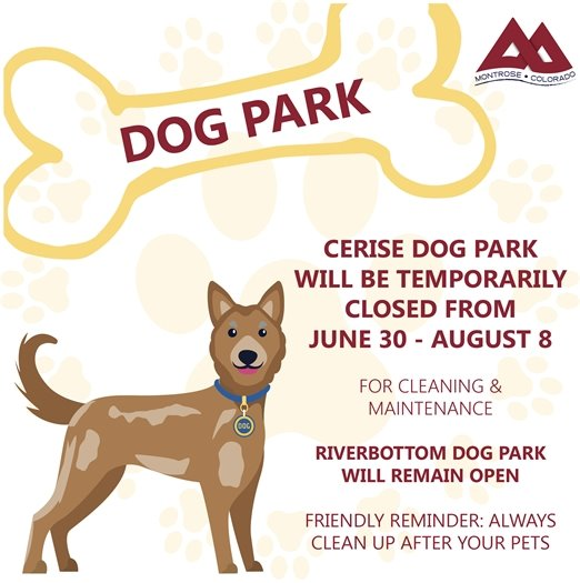 City To Close Cerise Dog Park For Maintenance