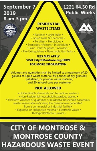 City and County Partner To Host Hazardous Waste Collection