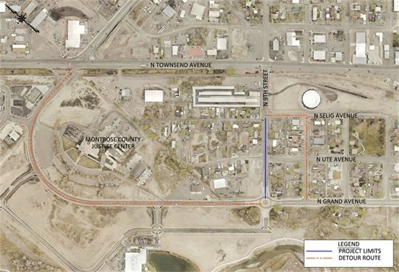 Image of North 9th Street Sidewalk Extension Project Area