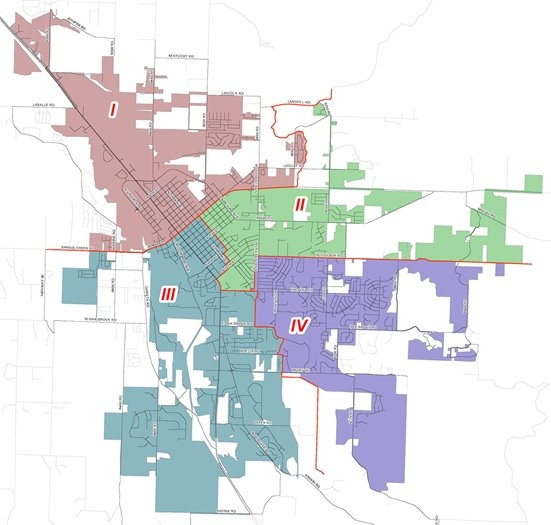 Image of City Council Districts Map