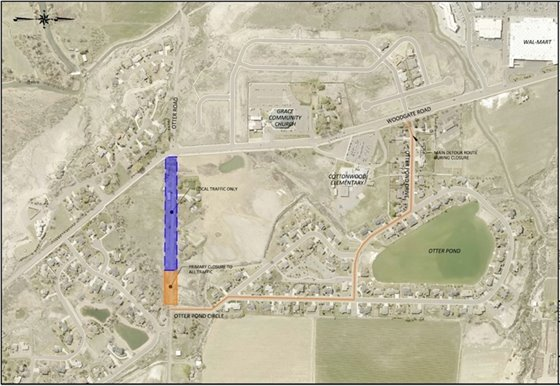 Otter Road Culvert Replacement Map