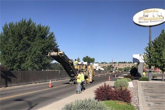City roadwork to continue through October.