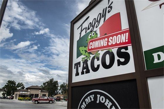 Froggy's taco shop is under construction next to the new Coffee Trader on South Fifth Street.