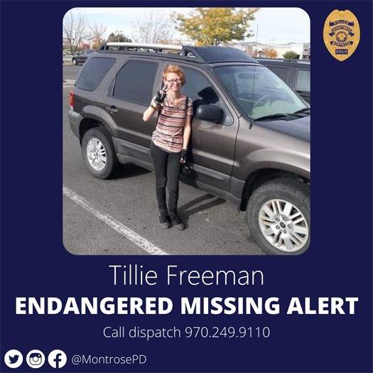 Montrose Police Missing Endangered Teen