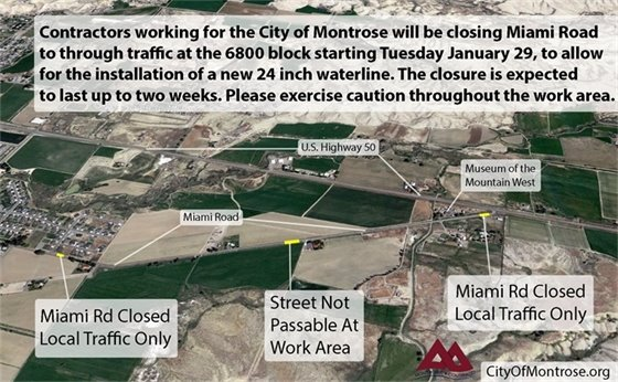 Portion of Miami Road To Close For Waterline Work