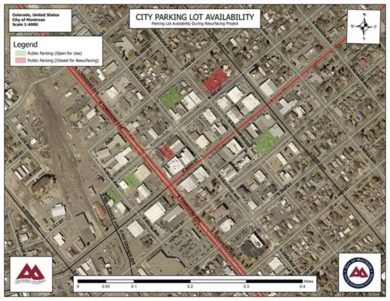 Downtown Parking Lots To Close For Resurfacing and Repairs