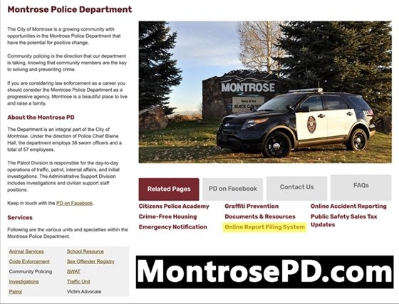 MPD Rolls Out New Online Reporting Tool