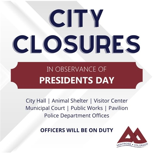 City Offices to Close On Presidents Day
