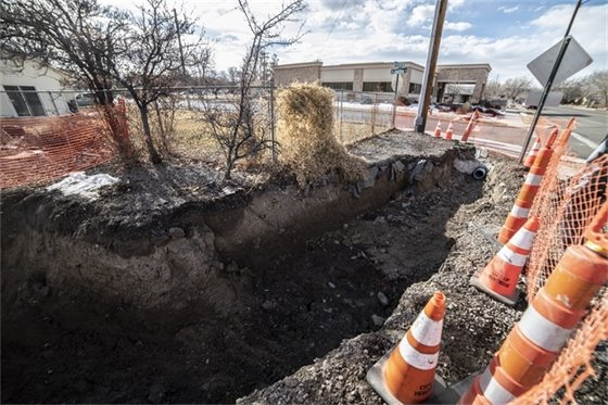 Public Works Crews Working To Fix Collapsed Storm Drain