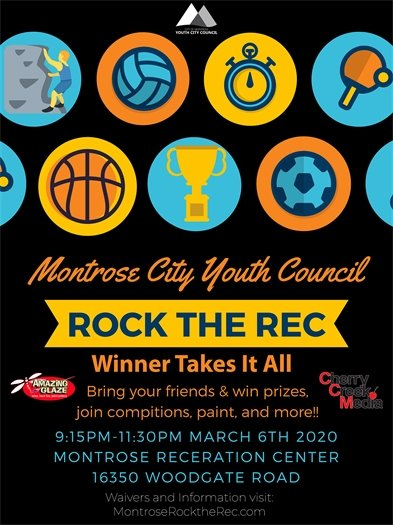 "Montrose Youth City Council To Host ""Rock the Rec"" Event"