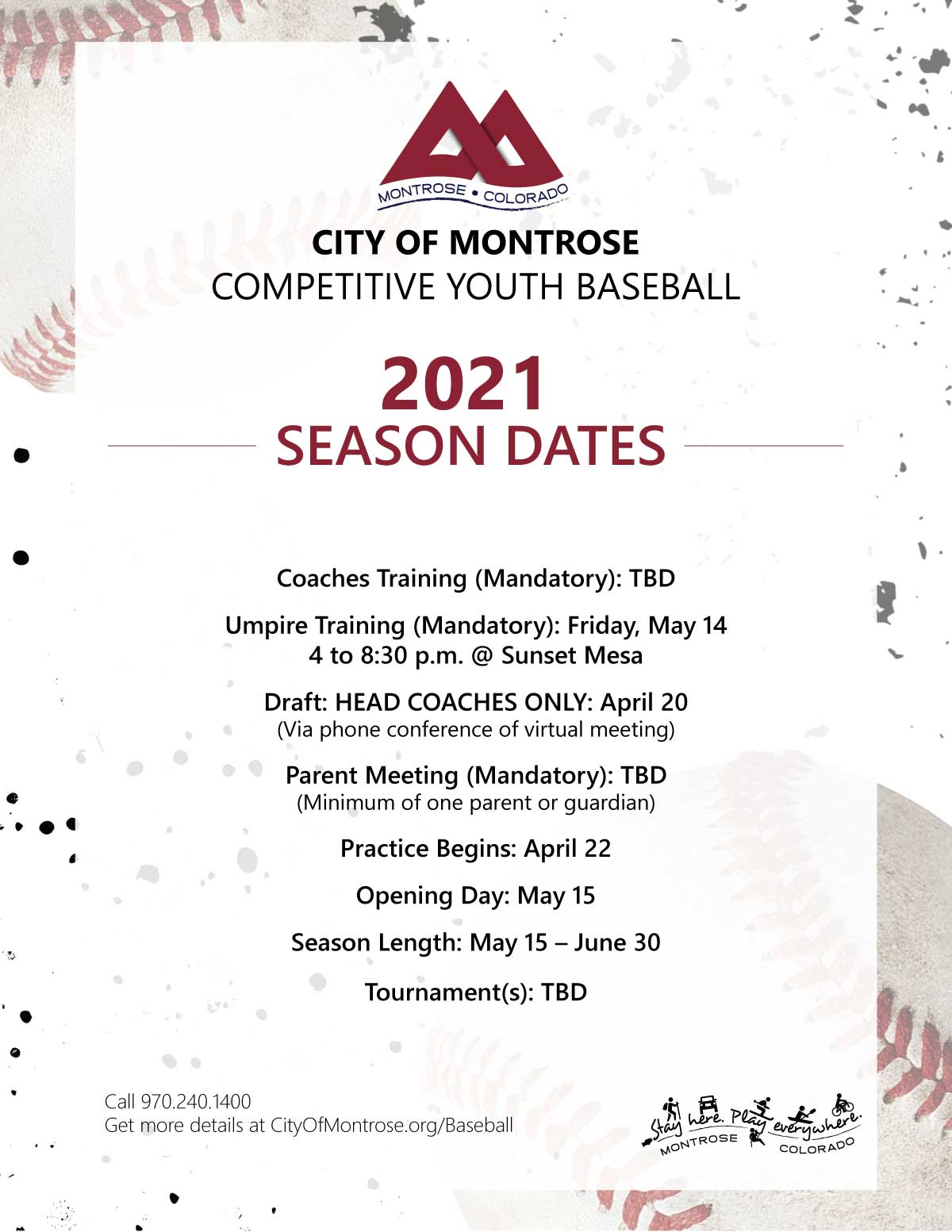 Baseball Season Dates