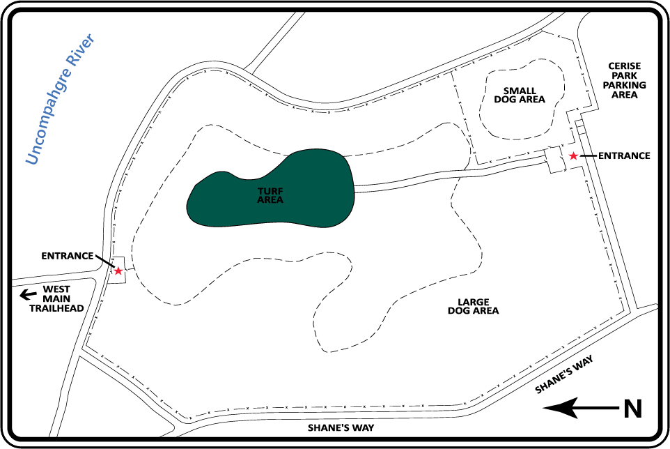 Montrose Dog Park Map