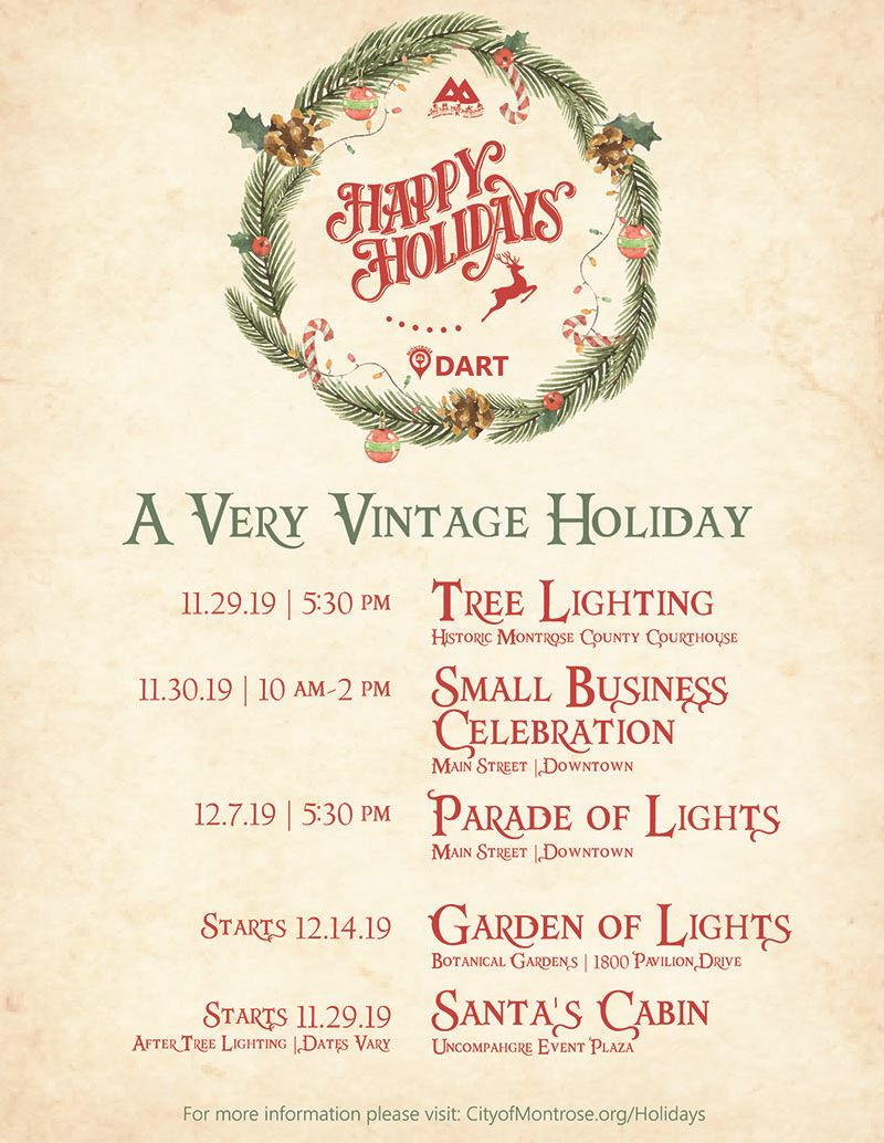 Holiday Events Flyer 2019