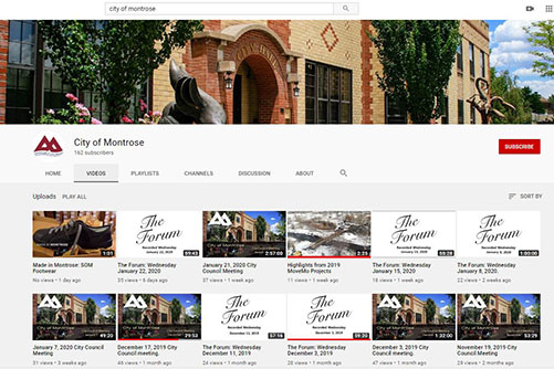 City of Montrose YouTube Opens in new window
